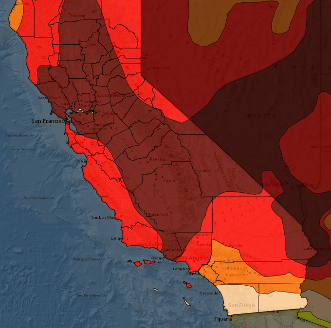 A Dry Year In California